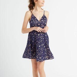 Macy's Blue Lace Dress